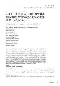 profiles of occupational exposure in patients with wood dust-induced ...