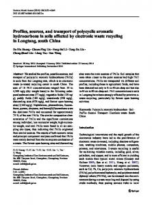 Profiles, sources, and transport of polycyclic aromatic hydrocarbons in ...
