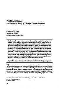 Profiling Change - Northern Kentucky University