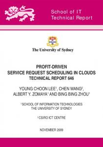 PROFIT-DRIVEN SERVICE REQUEST SCHEDULING IN CLOUDS