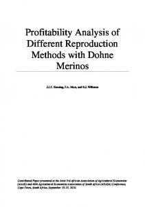 Profitability Analysis of Different Reproduction ... - AgEcon Search