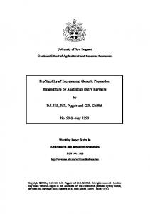 Profitability of Incremental Generic Promotion ... - AgEcon Search