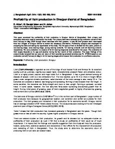 Profitability of litchi production in Dinajpur district of ... - AgEcon Search