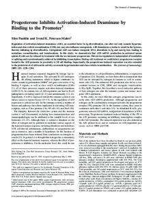 Progesterone Inhibits Activation-Induced