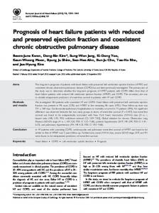 Prognosis of heart failure patients with reduced ... - Wiley Online Library