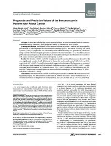 Prognostic and Predictive Values of the Immunoscore in Patients with ...