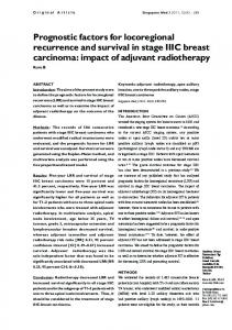 Prognostic factors for locoregional recurrence and ... - APAMED Central