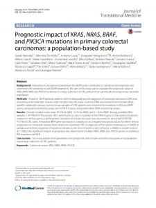 Prognostic impact of KRAS, NRAS, BRAF, and ... - Semantic Scholar