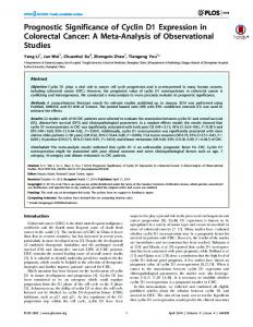 Prognostic Significance of Cyclin D1 Expression in