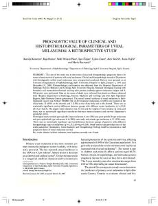 prognostic value of clinical and histopathological parameters of uveal ...
