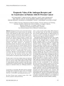 Prognostic Value of the Androgen Receptor and its Coactivators in ...