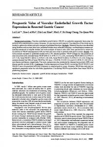 Prognostic Value of Vascular Endothelial Growth Factor Expression in ...