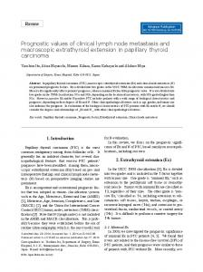 Prognostic values of clinical lymph node metastasis and ... - J-Stage
