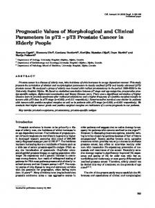 Prognostic Values of Morphological and Clinical Parameters in pT2 ...