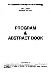 program & abstract book