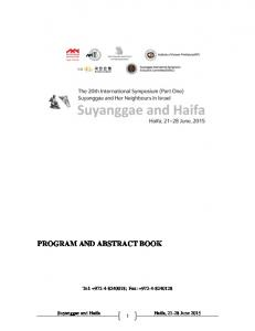 program and abstract book