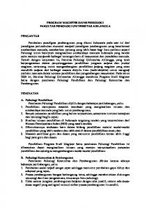 PROGRAM MAGISTER SAINS PSIKOLOGI FAKULTAS PSIKOLOGI ...