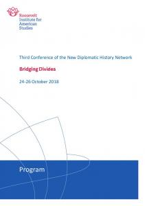 Program - New Diplomatic History