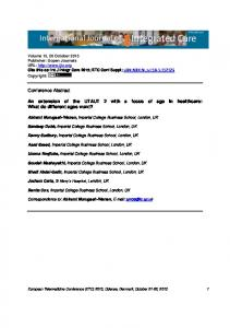 Program Overview - International Journal of Integrated Care