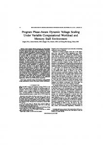 Program Phase-Aware Dynamic Voltage Scaling Under ... - IEEE Xplore