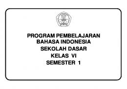 Program Semester Bahasa Indonesia SD Kelas VI Semester 1