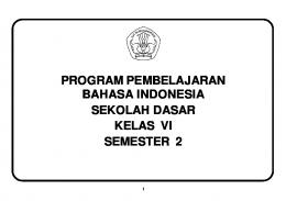 Program Semester Bahasa Indonesia SD Kelas VI Semester 2