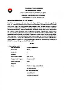 PROGRAM STUDI MANAJEMEN UNIVERSITAS ... - File UPI