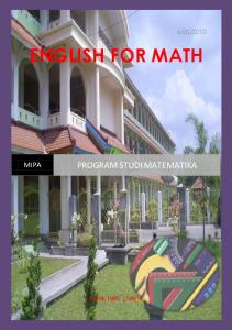 PROGRAM STUDI MATEMATIKA - Teaching Media and English Math