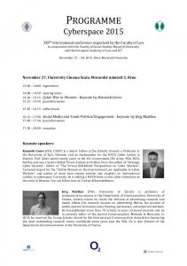 programme - Cyberspace Conference