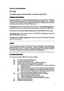 Programme Structure for students admitted in 2010-2011 - Faculty of ...