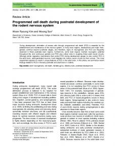 Programmed cell death during postnatal ... - Wiley Online Library