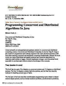 Programming Concurrent and Distributed Algorithms In Java