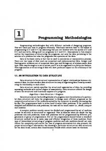 Programming Methodologies - New Age International