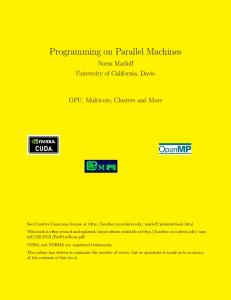 Programming on Parallel Machines - Index of