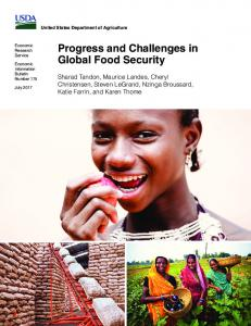 Progress and Challenges in Global Food Security - USDA ERS