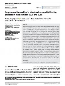 Progress and inequalities in infant and young ... - Wiley Online Library