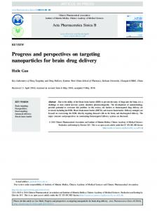 Progress and perspectives on targeting nanoparticles ... - CyberLeninka