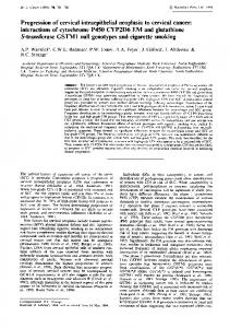 Progression of cervical intraepithelial neoplasia to cervical ... - CiteSeerX