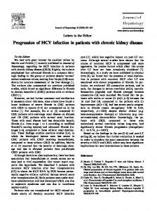 Progression of HCV infection in patients with chronic kidney disease
