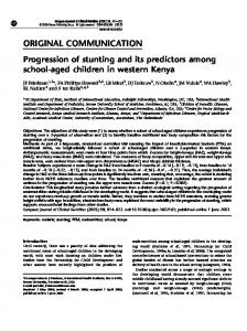 Progression of stunting and its predictors among school-aged children ...
