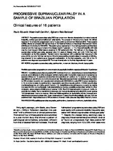PROGRESSIVE SUPRANUCLEAR PALSY IN A SAMPLE OF