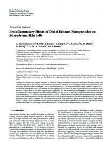 Proinflammatory Effects of Diesel Exhaust Nanoparticles on ...