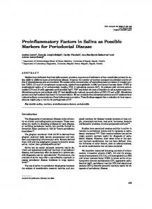 Proinflammatory Factors in Saliva as Possible Markers for Periodontal ...