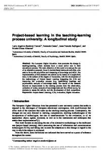 Project-based learning in the teaching-learning process university. A ...