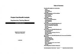 Project CostBenefit Analysis