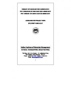 Project Guidelines - Indian Institute of Material Management