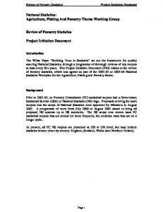 Project Initiation Document - Forestry Commission