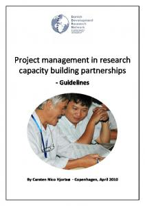 Project management in research capacity building partnerships