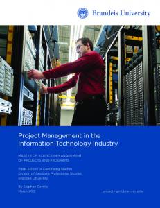 Project Management in the Information Technology Industry