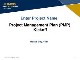 Project Management Plan Presentation